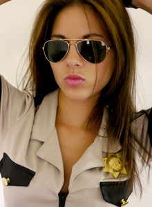 Officer Jennings Will Arrest You With Her Beauty As She Shows Off Her Perky Tits - Picture 2